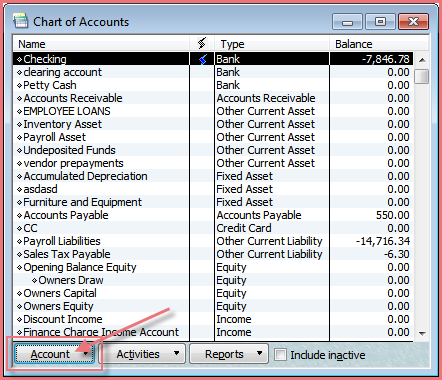 Quickbooks Guide Adding An Account Wright Accounting Cpa
