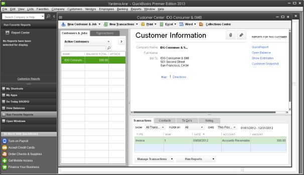 QuickbooksCustomerCenter