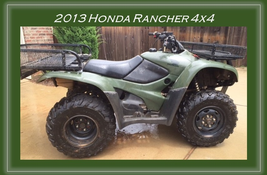 For Sale: 2013 Honda ATV (4x4) | Wright Accounting CPA