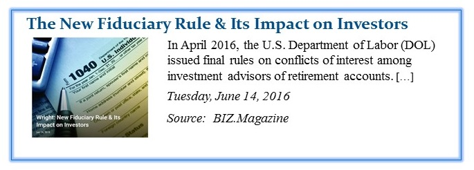 New Fiduciary Rule & Impact on Investors crop