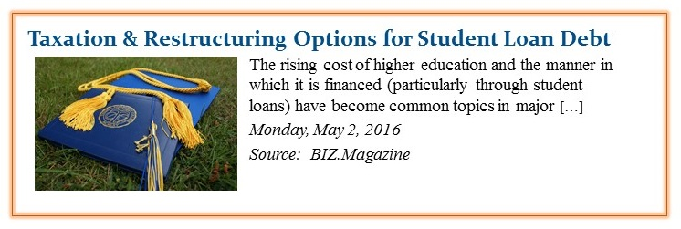 Student Loan Debt Taxation & Restructuring Options crop