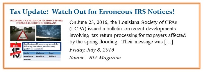 Tax Update Watch Out for Erroneous IRS Notices crop
